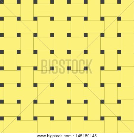 Seamless yellow woven texture. Vector background for your creativity