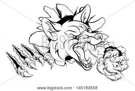 Fox Mascot Breaking Out