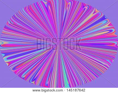 Colorful design of blue purple green yellow and pink