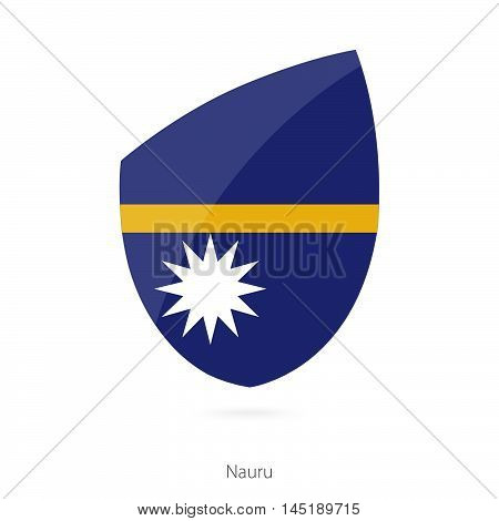 Flag of Nauru in the style of Rugby icon. Vector Illustration.