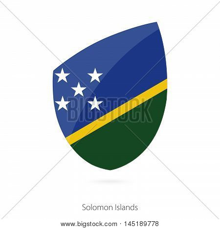 Flag of Solomon Islands in the style of Rugby icon. Vector Illustration.