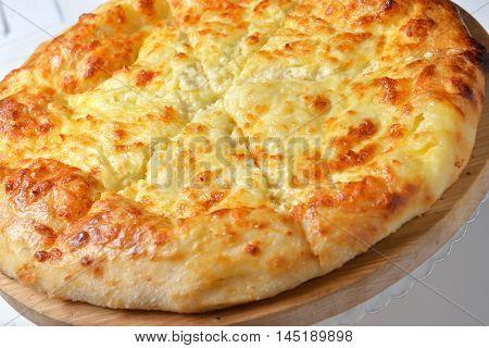 Georgian cuisine - khachapuri with cheese beautiful image