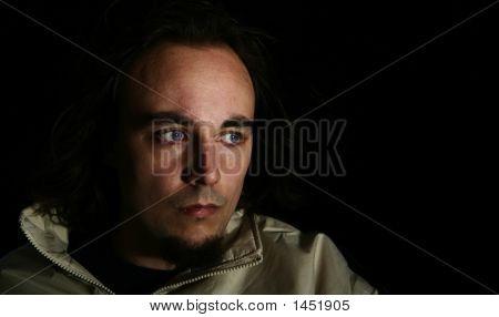 Blue Eyed Man Staring