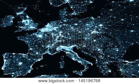 Physical Europe map illustration. map illustration. Elements of this image furnished by NASA