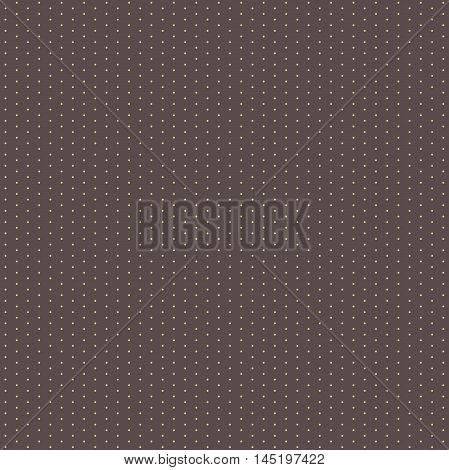 Seamless geometric modern pattern. Fine ornament with dotted elements. Brown and golden pattern