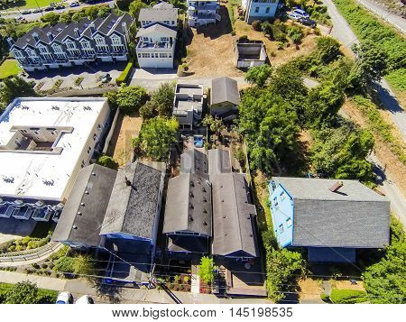 Panoramic View Of Residential Area In Tacoma
