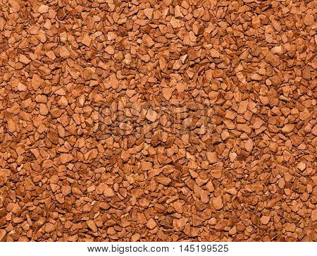 Instant coffee granules background.Food or drink background