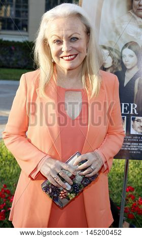 Jacki Weaver at the Los Angeles premiere of 'Sister Cities' held at the Paramount Studios in Hollywood, USA on August 31, 2016.