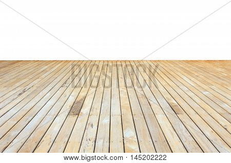 Wooden Decking And Flooring Isolated On White Background