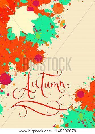 Autumn In Watercolor Autumn Frame