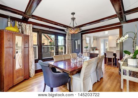 Great Dining Room Interior With Vintage Furniture