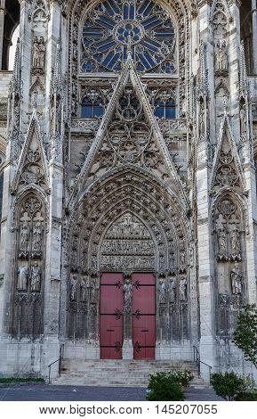 Rouen Cathedral is a Roman Catholic Gothic cathedral in Rouen Normandy France. Portal