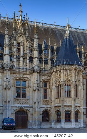Rouen Palace of Justice - is one of the most beautiful Gothic palaces of France dates from the beginning of the XVI century