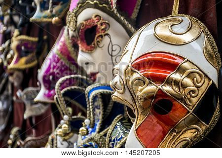 Traditional Masks in Florence Tuscany in Italy