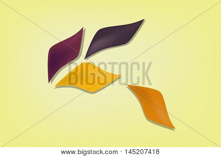 Abstract vector background with some autums leave