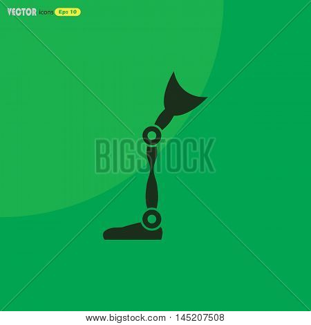 prosthetic leg  Vector icon for web and mobile. Medical collection