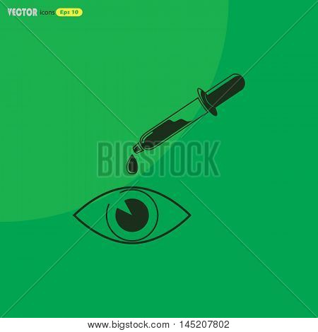 Eye drop  Vector icon for web and mobile. Medical collection