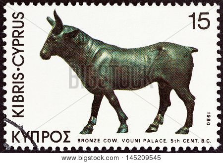 CYPRUS - CIRCA 1980: A stamp printed in Cyprus from the