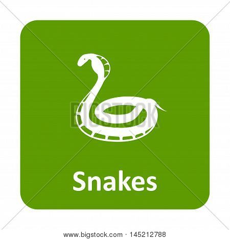 Cobra Snake Vector Icon For Web And Mobile