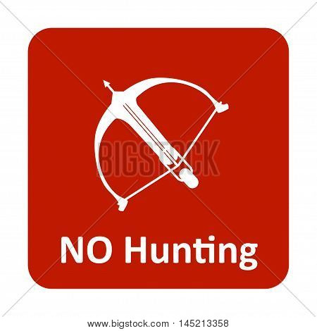 Crossbow No Hunting Vector Icon For Web And Mobile