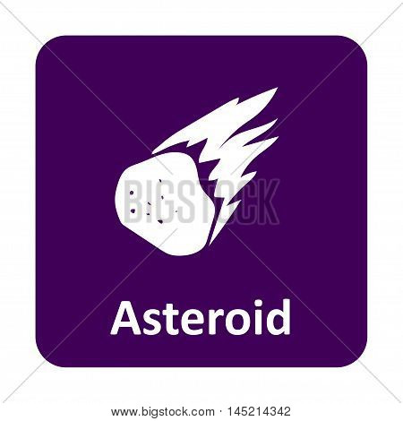 Asteroid Burning In Space Vector Icon For Web And Mobile