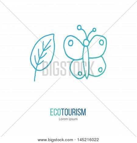 Vector Ecotourism Design Element Isolated On White