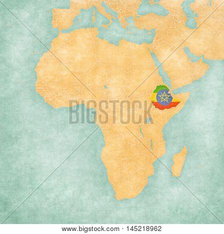 Map Of Africa - Ethiopia