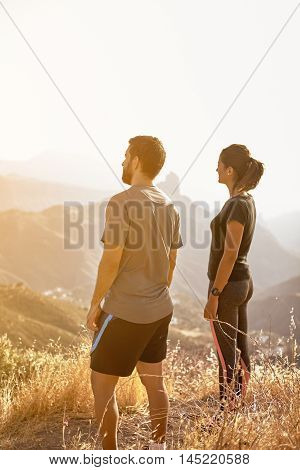 Young Couple Looking At The View