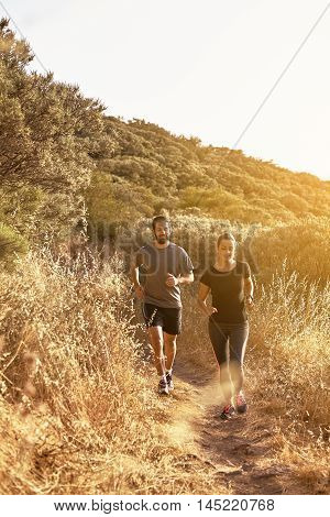 Two People Out For A Jog