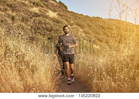 Couple Running In Full Sun Light