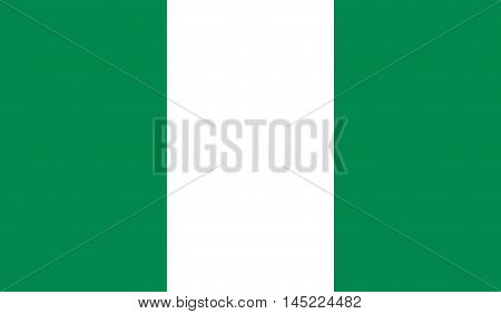 original and simple Nigeria flag isolated vector in official colors and Proportion Correctly.