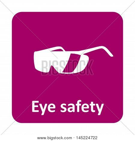 Eye Safety Glasses Vector Icon For Web And Mobile