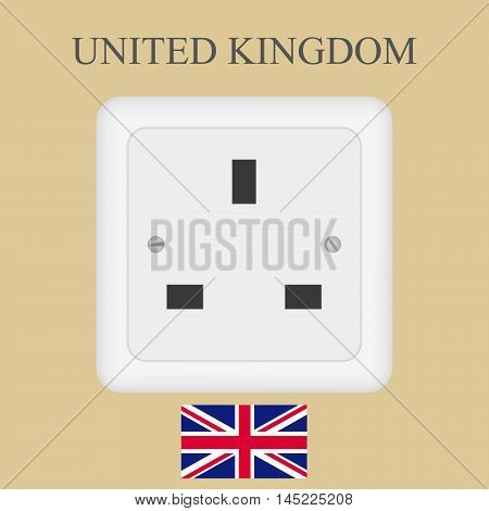 Electrical outlet in the UK power socket with Universal Serial Bus.