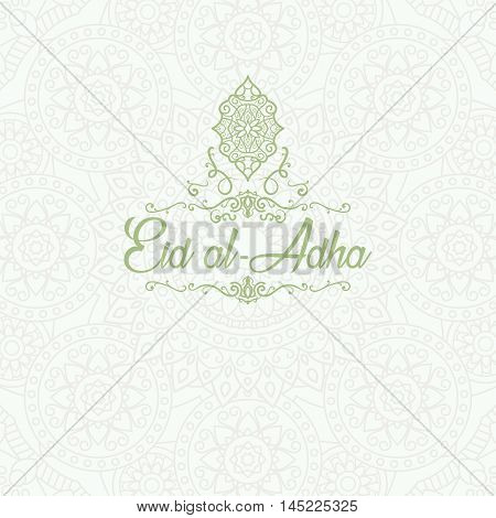 Arabic islamic calligraphy of text Eid Mubarak on colourful floral design decorated brown background. vector illustration