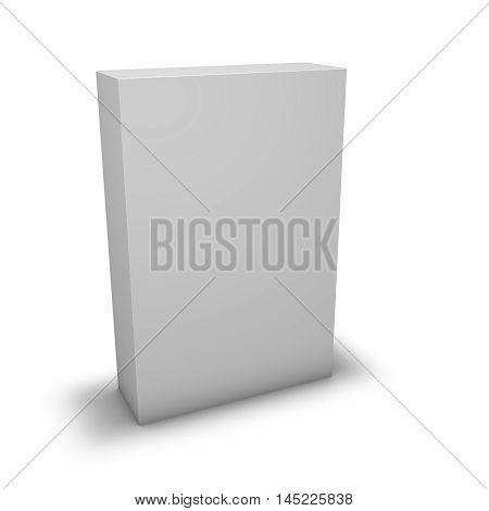 Product game, dvd box with blank cover mock up template.