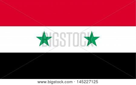 National flag of Syria . Vector.Accurate dimensions element proportions and colors