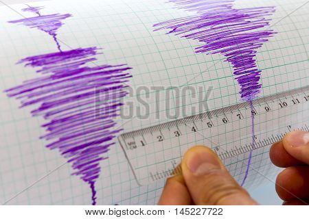 Seismological Device Sheet - Seismometer Vignette Purple