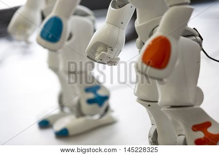 Small Robot With Human Face And Body. Hand And Legs.