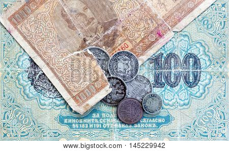 Old Expired Coins And Banknotes. Bulgarian Coins And Silver Coins