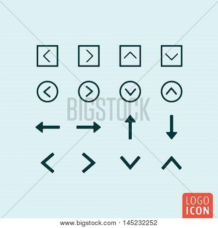 Arrow icon. Various arrows set. Vector illustration