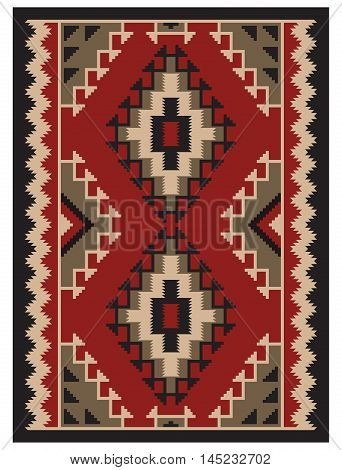 American Indians tribal blanket ornament, geometric pattern