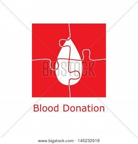 Blood Donation Logo Puzzle