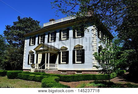 New Bern North Carolina - April 24 2016: Circa 1780 John Wright Stanly Mansion on George Street
