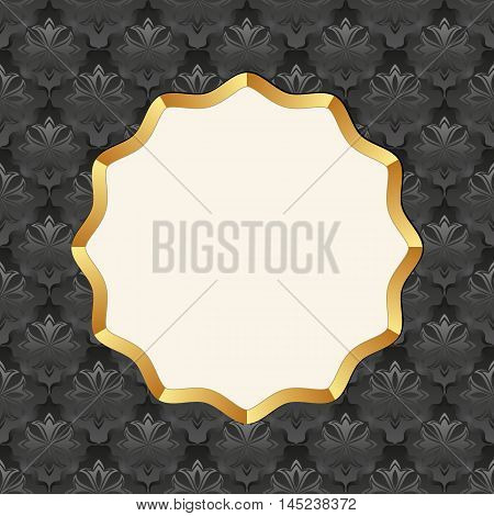 antique background with decorative frame - vector illustration