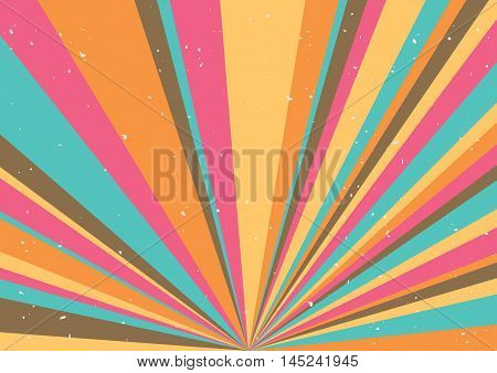 Psychedelic geometric retro background. Retro. Vector illustration