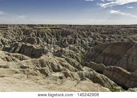 Badlands National Park Ravine in South Dakota