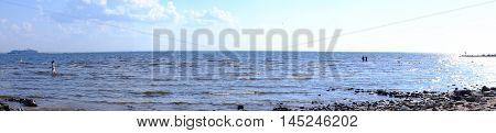 Panorama of the Baltic Sea baltic ocean sunset poland blue