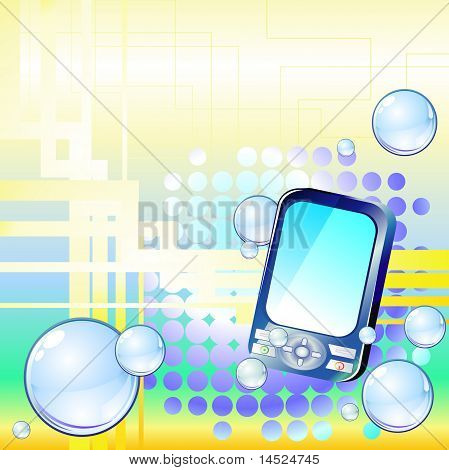 Background with cell phone