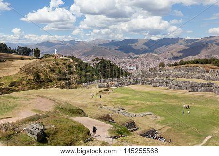 Inca Site Of Saqsaywaman In Peru