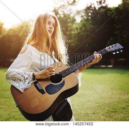 Guitar Instrument Musical Leisure Rhythm Sound Concept